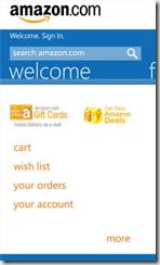 amazon app WP8