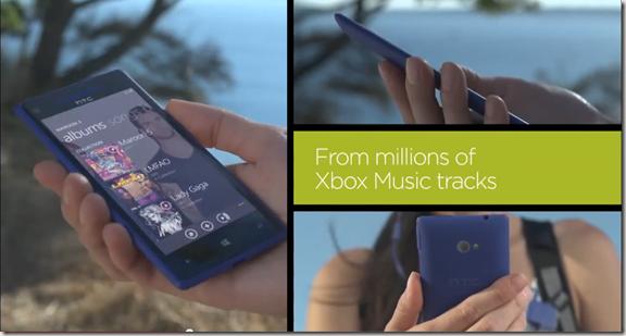 HTC 8X anuncio