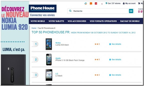 resrvas lumia 920 negro en phone house francia