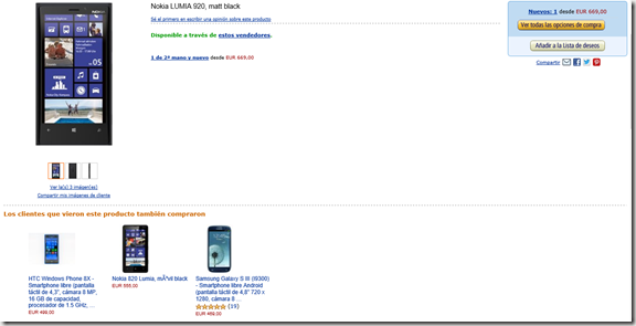 amazon españa lumia WP8