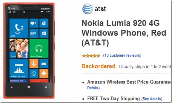 amazon nokia lumia 920