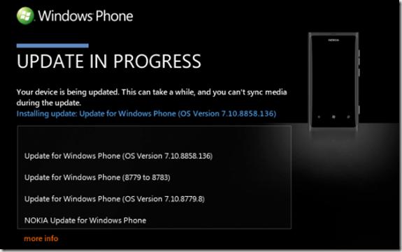 actualizacion WP 7.8 lumia 800