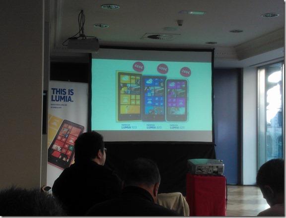 Precios familia Lumia WP 8