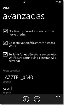 WiFI configuracion WP8