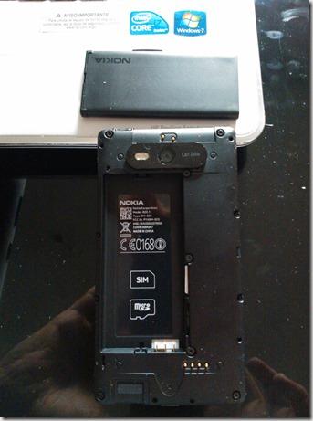Lumia 820 desmontado