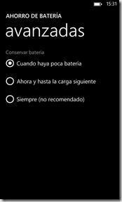configuracion ahorro de bateria