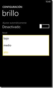 configuracion brillo de pantalla