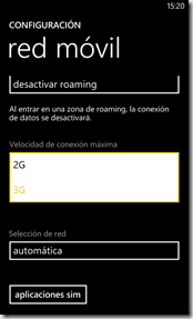 configuracion red movil