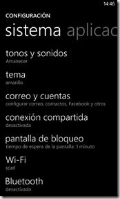configuracion WP 8
