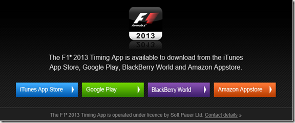 F1 Live Timing app
