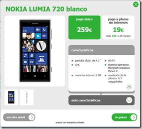 lumia 720 en Amena