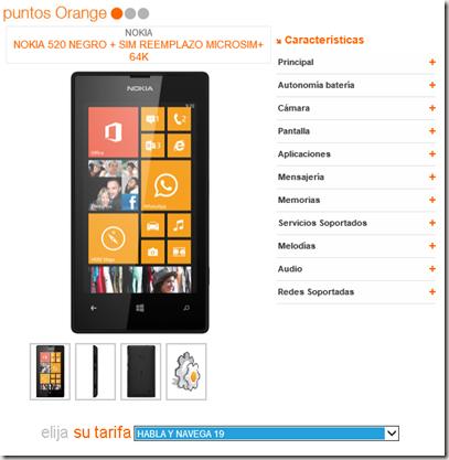 Nokia Lumia 520 en Orange