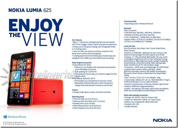 ficha lumia 625