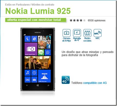 lumia 925 movistar