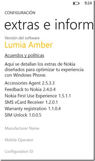 Nokia Amber Info
