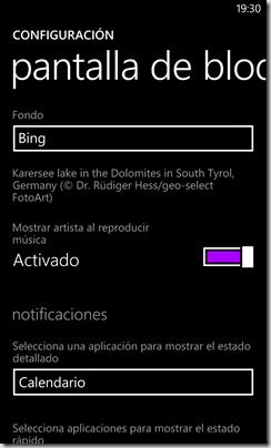 pantalla de bloqueo bing